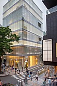Dior Store by SANAA Sejima y Nishikawa Architects & Associates  And Chanel Store,in Omotesando street, Tokyo, Japan