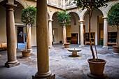 Courtyard of seminario de San Felipe Neri,university, in Santa María´s square  Baeza  Jaén province  Spain