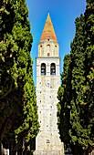 Belltower of the Patriarchal Basilica of Santa Maria Assunta, Aquileia, Friuli-Venezia Giulia, Italy