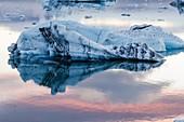 Jökulsarlón glacial lagoon  Iceland