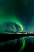 Northern lights at Skaftafell, East of Iceland