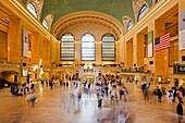 Commuters moving through Grand Central Terminal, New York City, New York