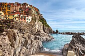 natural port of Manarola, Cinque Terre, Liguria, Italy.