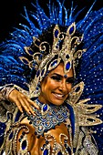 A samba school dancer performs during the Carnival Access Group parade at the Sambadrome in Rio de Janeiro, Brazil, 19 February 2012  The Carnival in Rio de Janeiro, considered the biggest carnival in the world, is a colorful, four day celebration, taking