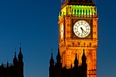 Big Ben Tower with buildings of House of Parliament, London England, UK