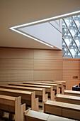 Prayer room in the New Synagogue of Ulm, Weinhof, Ulm, Baden-Wuerttemberg, Germany