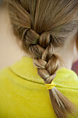 Young Girl's Braided Hair, Rear View
