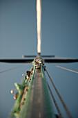 Metal Ring on Mast of Sailboat