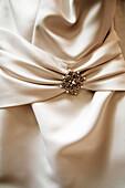 Brooch on Wedding Gown
