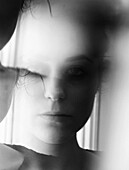 Abstract Face of Young Woman