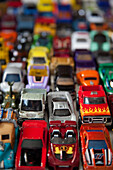 Many Minature Toy Cars, Selective Focus