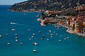 The Marina And Town Of Villefranche-Sur-Mer, Aalpes-Maritimes (06), France