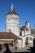 Entrance To The Chateau De Chateaudun And Its Keep, Eure-Et-Loir (28), France