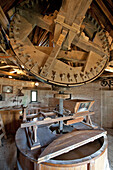 Wheel Used For Grinding The Wheat And Making Flour, Interior Of The Stone Windmill In Frouville-Pensier, Ozoir-Le-Breuil, Eure-Et-Loir (28), France