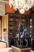 Bronze Equestrian Statue Of Louis Xiv In The Library In The Chateau De Maintenon, Eure-Et-Loir (28), Centre, France