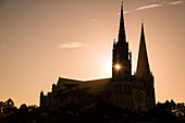 Cathedral Notre-Dame At Nightfall, Unesco World Heritage Site, Chartres, Eure-Et-Loir (28), France