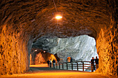 Tourists Visiting A Cave In Taroko Gorge, Taiwan