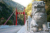 Dragon Guarding The Entrance To A Bridge In The Gorges Of Taroko, Taiwan