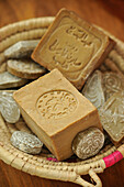 Traditional Aleppo Soaps Made Of Olive Oil And Laurel Berries, Morocco, Africa