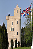 The Ulster Tower, Irish Memorial In Gothic Troubadour Style Built In 1921 For The Battle Of The Somme And In Homage To All The Soldiers From Ulster Who Died During The First World War, Thiepval, Somme (80), France