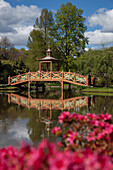 Pagoda Bridge In The Floral Park, The Village Of Apremont-Sur-Allier, One Of The Most Beautiful Villages Of France, Cher (18), France