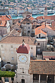 Loggia With Clock Tower In Trogir, Split-Dalmatia, Croatia