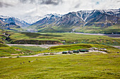 'View Of Eielson Visitor's Center From A Vantage Point Above On Mount Eielson Denali National Park; Alaska United States Of America'