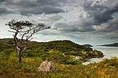 'View Of The Coastline Under A Cloudy Sky; Applecross Peninsula Scotland'