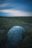 'Long Exposure Of The Sky In Grasslands National Park;Saskatchewan Canada'