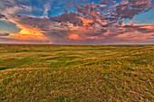 'Passing Storm Over The Prairies In Grasslands National Park;Saskatchewan Canada'