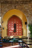 'Morocco, Casablanca, Interior Of Restaurant; Old Medina'
