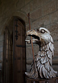'Uk, Scotland, Scottish Borders, Sculpture Of Eagle With Sceptre In It's Mouth; Yetholm'