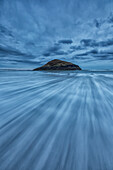 'Long Exposure Of Water Flowing At Long Beach In Pacific Rim National Park;Vancouver Island British Columbia Canada'