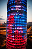 Colorful elevation of modern building, Barcelona, Spain