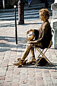 Street artist in Montmartre, Paris, France