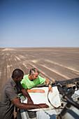 Crossing remote desert, Chalbi Desert, Kenya