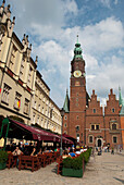 Poland, Gothic style Town Hall in Market Square, Wroclaw