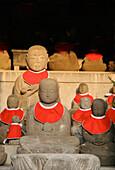 Buddha statues at Kiyomizu-dera Temple, Kyoto, Japan