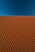 Sand dune near Merzouga in Sahara Desert, Erg Chebbi, Morocco