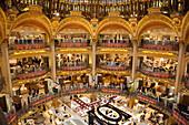 Galeries Lafayette department store, Boulevard Haussmann, Paris, France