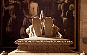 Detail of tomb of Vasco de Gama, Mosteiro dos Jeronimos, Belem, Lisbon, Portugal