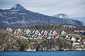 Views up fjord, Nuuk, Greenland, Denmark