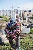 Traditional cemetery, Upernarvik, Greenland, Denmark