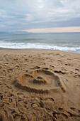 Vietnam, Heart-shape in sand, Nha Trang