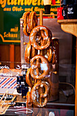Giant pretzels, Breitscheid Platz, Berlin, Germany
