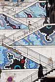 Colorful design of steps, Algiers, Algeria