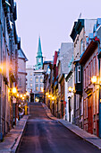 Sainte Famille Street At Dawn, Old Quebec, Quebec.