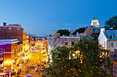 People On Saint-Jean Street At Dusk During Festival D'ete De Quebec, Quebec City Quebec Canada