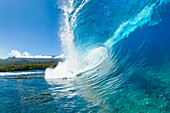 Hawaii, Maui, Hana, Beautiful blue ocean wave.