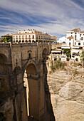New bridge over El Tajo gorge, Ronda, Andalusia, Spain